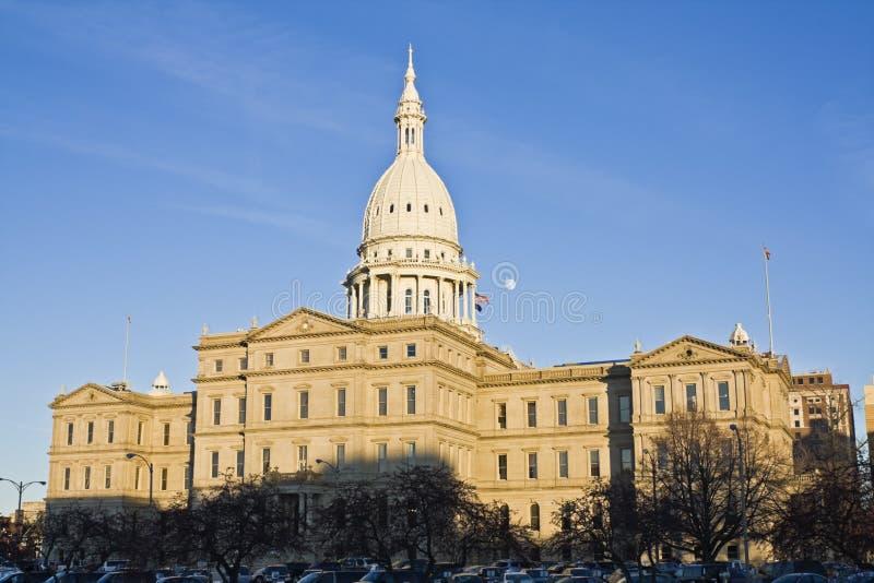 Lansing, Michigan - Capitólio do estado imagem de stock royalty free