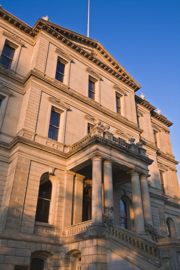 Lansing, Michigan - capitolio del estado foto de archivo libre de regalías