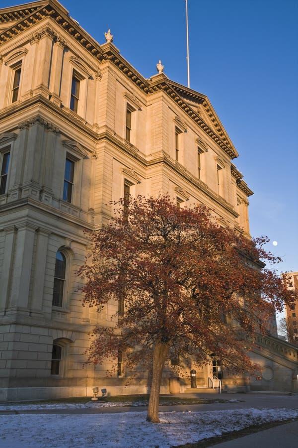 Lansing, Michigan - het Capitool van de Staat stock foto