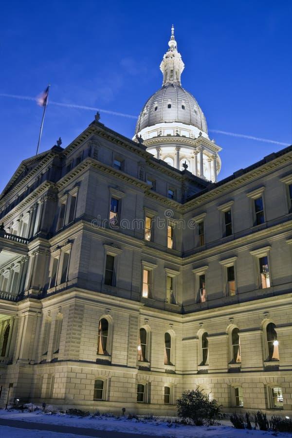 Lansing, Michigan - het Capitool van de Staat royalty-vrije stock afbeelding