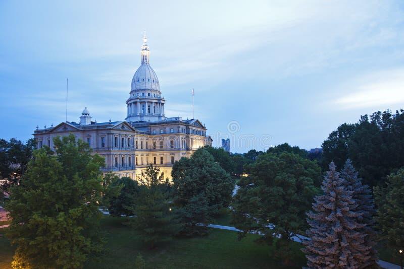 Lansing, Michigan - State Capitol Building. Lansing, Michigan - elevated view of State Capitol Building stock photo