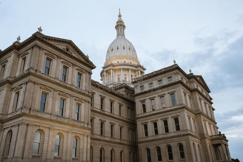 Lansing State Capitol Building in Michigan stock foto