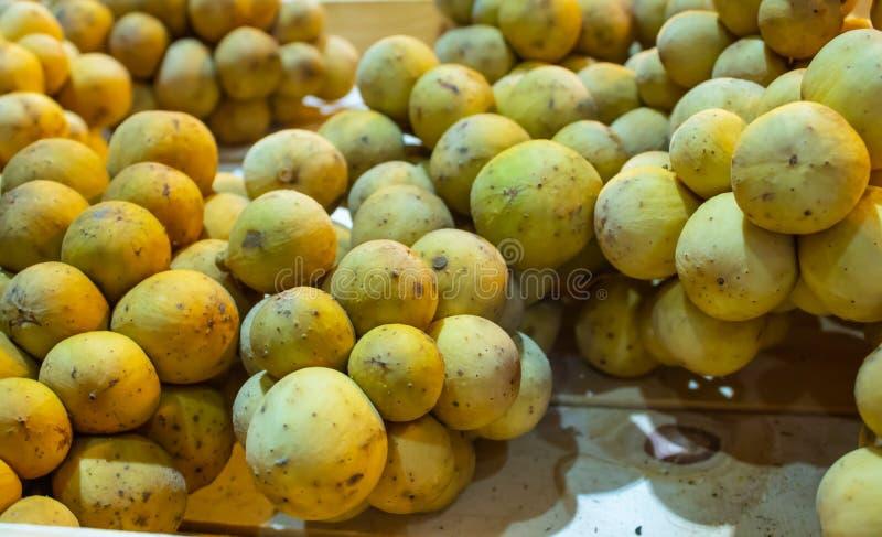Lansium Longkong lub domesticum jesteśmy Tajlandzkimi tropikalnymi owoc obraz stock