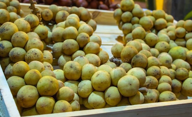 Lansium Longkong lub domesticum jesteśmy Tajlandzkimi tropikalnymi owoc obrazy royalty free