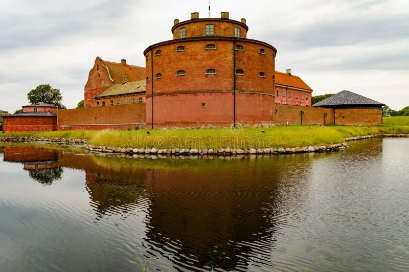 Lansskrona citadell w skane Sweden obrazy royalty free