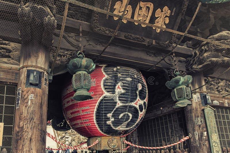 Lantaarn bij de Tempel van Naritasan Shinshoji in Narita, Japan stock foto