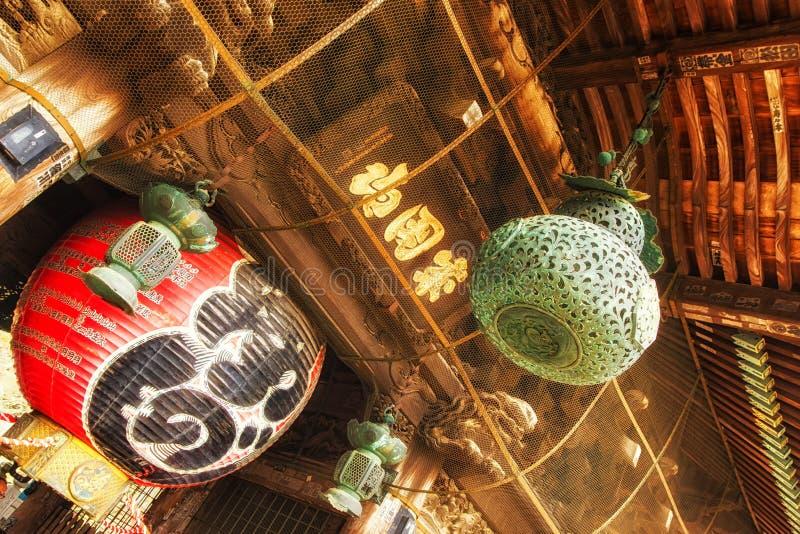 Lantaarn bij de Tempel van Naritasan Shinshoji in Narita, Japan royalty-vrije stock foto