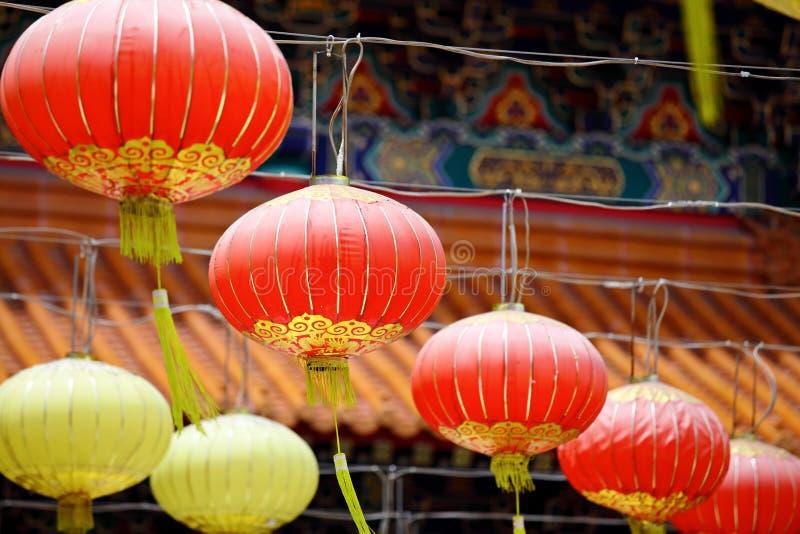 Lantaarn in Chinese tempel royalty-vrije stock fotografie