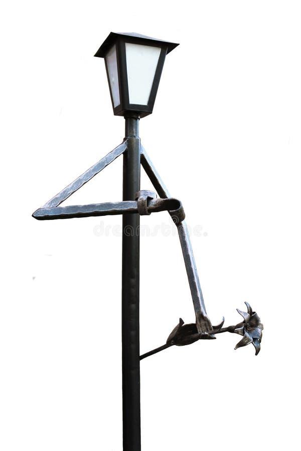 Lantaarn in de vorm van een mens op een tryst royalty-vrije stock afbeeldingen