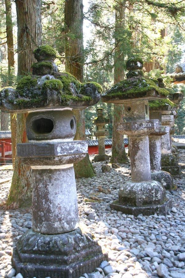 Lantaarn in Nikko stock foto's
