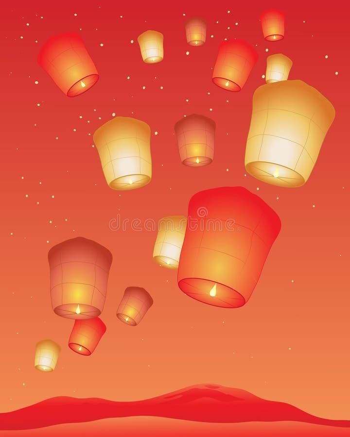 Lantaarnfestival vector illustratie