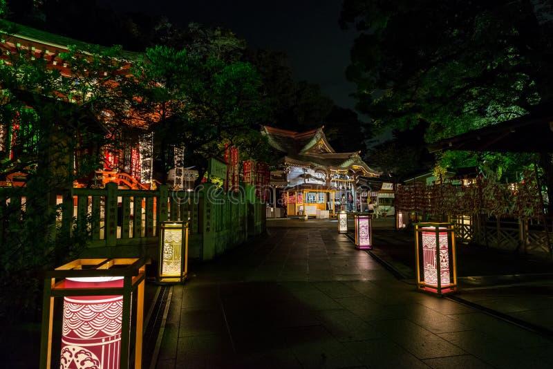 Lantaarnfestival in Enoshima royalty-vrije stock foto's