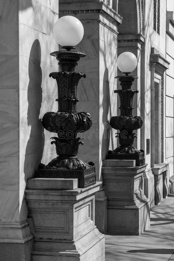 Lantaarnpalen in Washington DC stock afbeeldingen