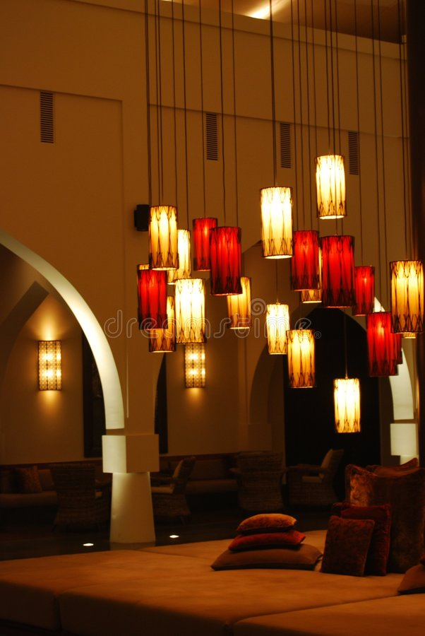 Lantaarns bij de Muscateldruif Chedi royalty-vrije stock foto