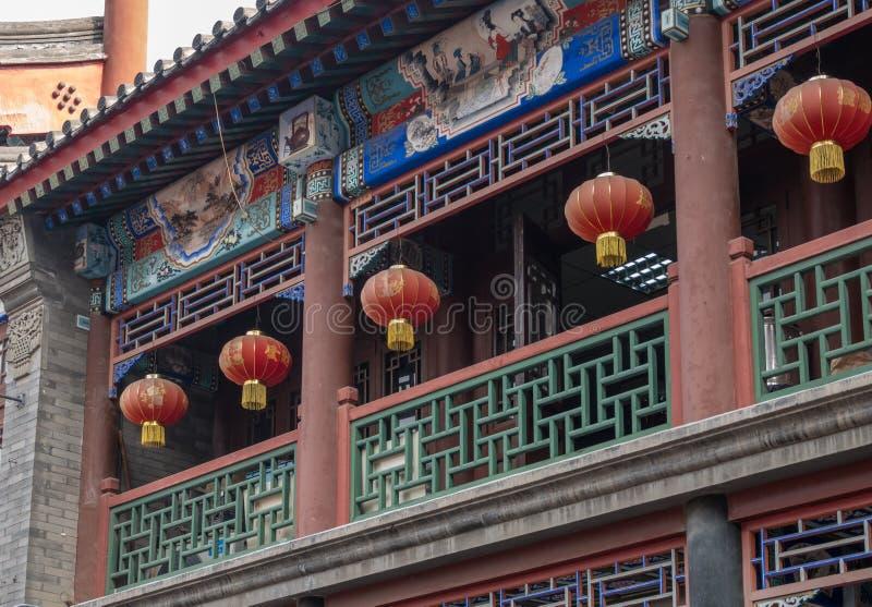 Lantaarns op Oude Culturele Straat in Tianjin stock fotografie