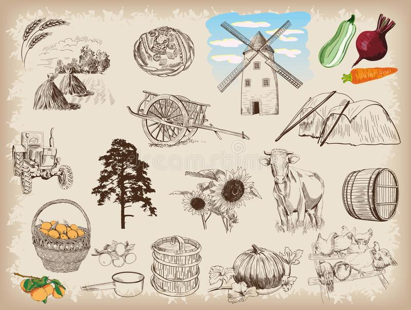 lantbruk vektor illustrationer