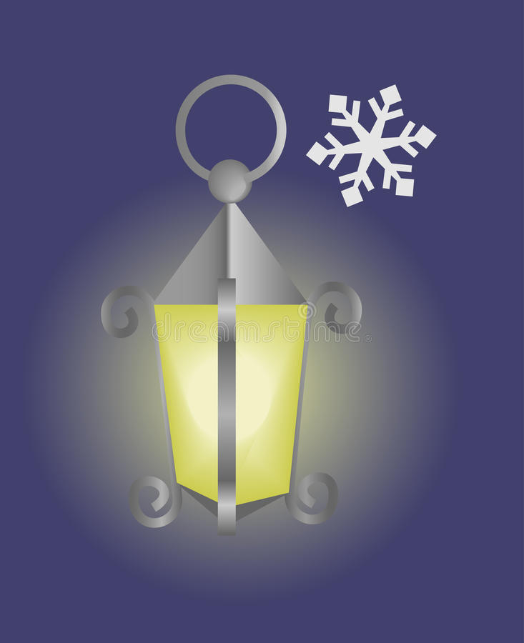 Download Lantern stock vector. Image of snow, winter, yellow, antiques - 11960485