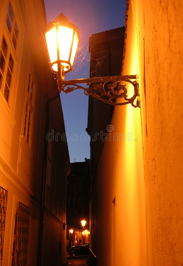Lantern In An Alley Stock Photography