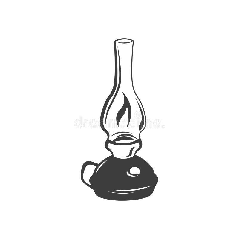 Lantern Candle Lamp Light. Vector Illustration Isolated On White royalty free illustration