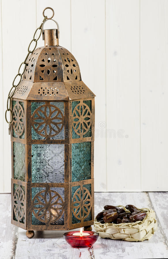 Lantern and Dates stock photography