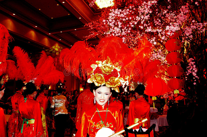 Lantern in the Empire Palace. In Chinese New Year celebrations in Surabaya, East Java, Indonesia royalty free stock images