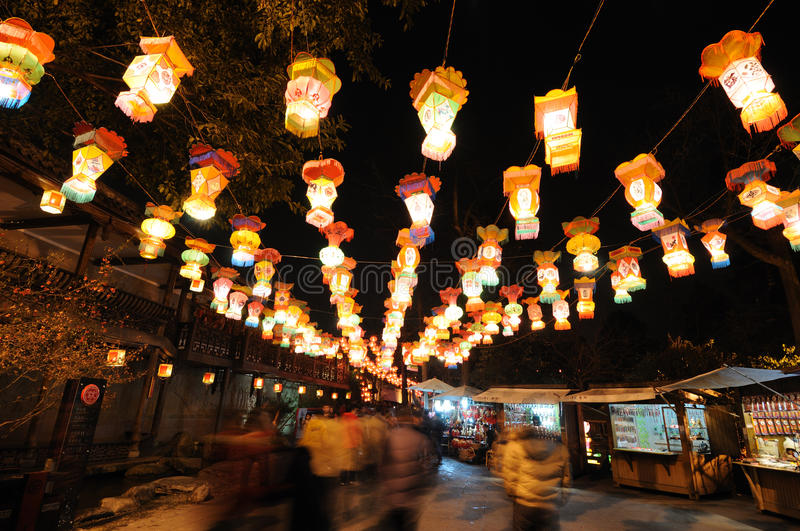 Download Lantern Festival  In Jinli Old Street Editorial Photo - Image of huse, ancient: 13958666
