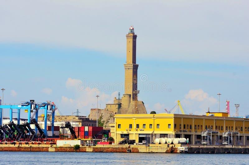 The lantern of Genoa stock photo