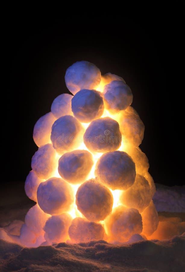 Lantern Made Of Snow Royalty Free Stock Photos