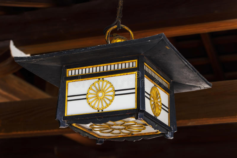Lantern in Meiji Shrine, Tokyo stock image