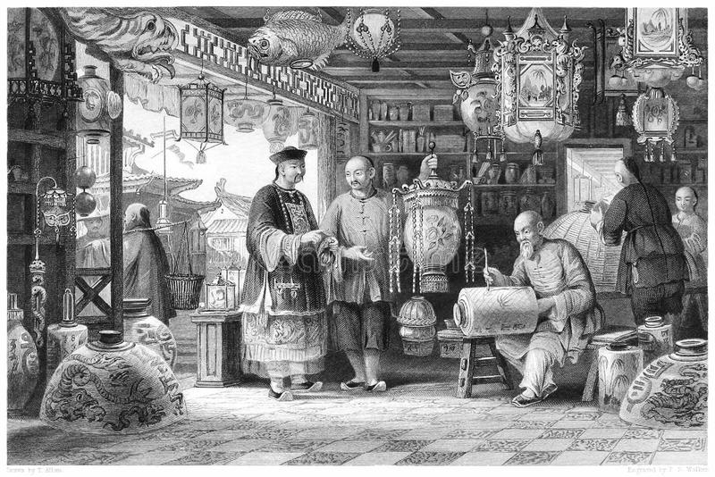 Lantern Merchant in Beijing royalty free stock photos