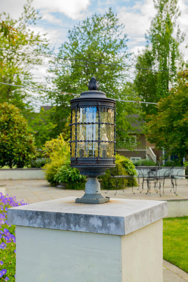Download Lantern on The Patio stock photo. Image of character - 32098022