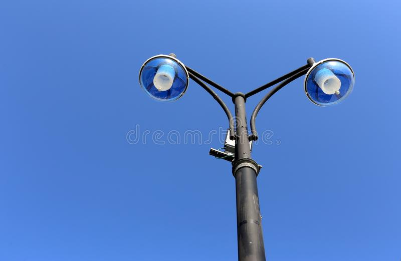 Flashlight - light source. Lantern - portable or stationary artificial light source royalty free stock image
