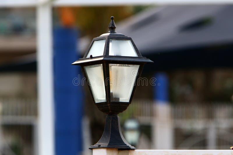 Flashlight - light source. Lantern - portable or stationary artificial light source stock image