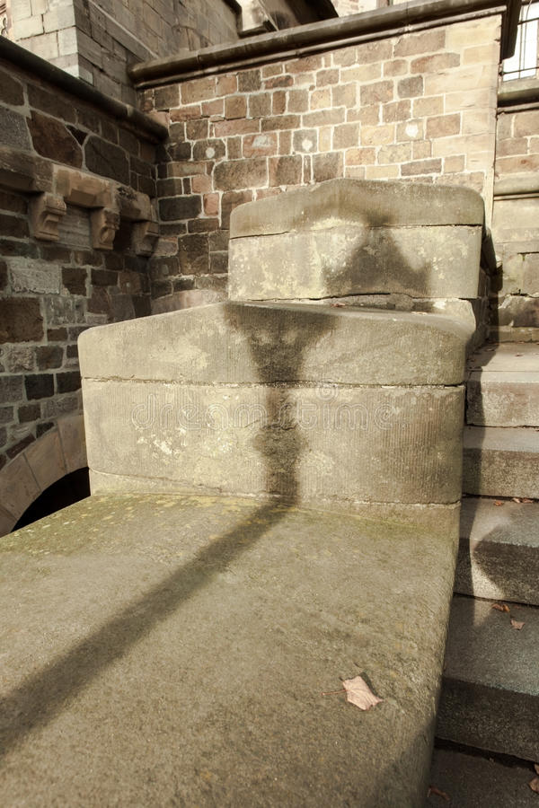 Free Lantern Shadow On The Old Stonewall Stock Images - 73414204