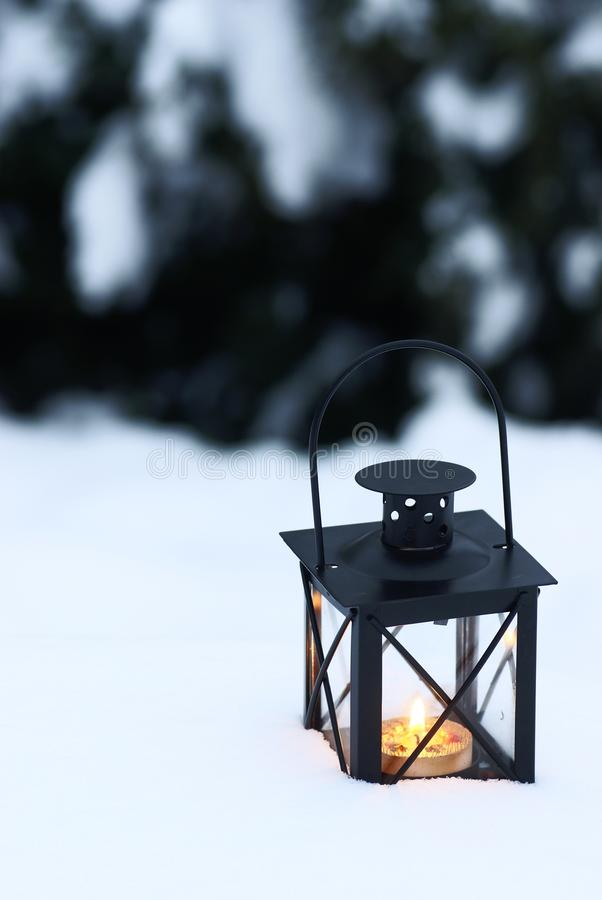 Download Lantern on snow stock image. Image of holidays, space - 32749095