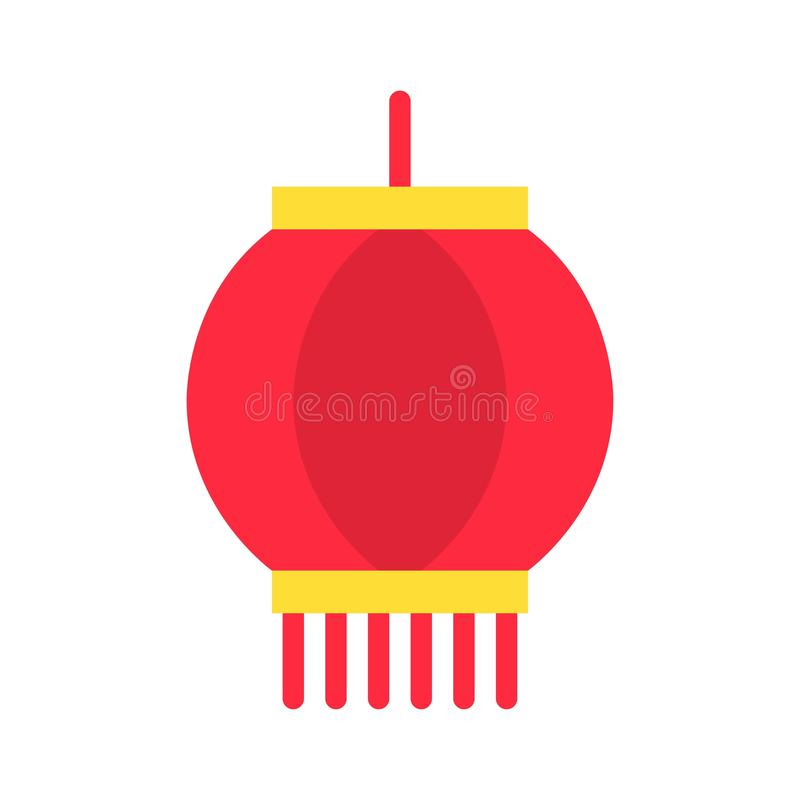 Lantern Vector, Chinese Lunar New Year Flat Style Icon ...
