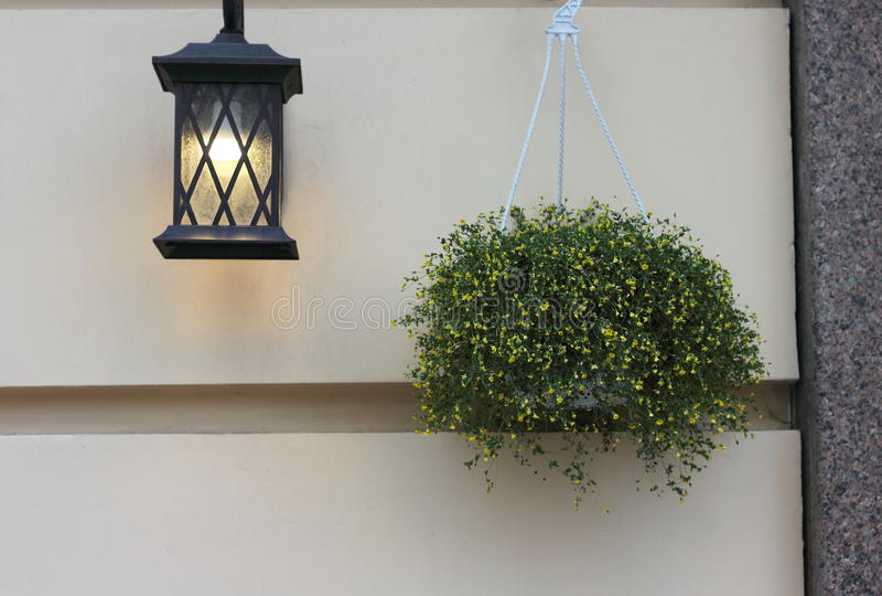 Lantern on the wall royalty free stock photo