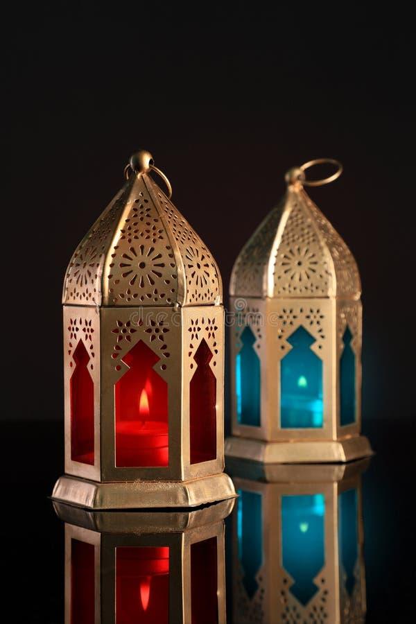 Lanterna árabe/islâmica para a ramadã/Eid Celebrations fotografia de stock