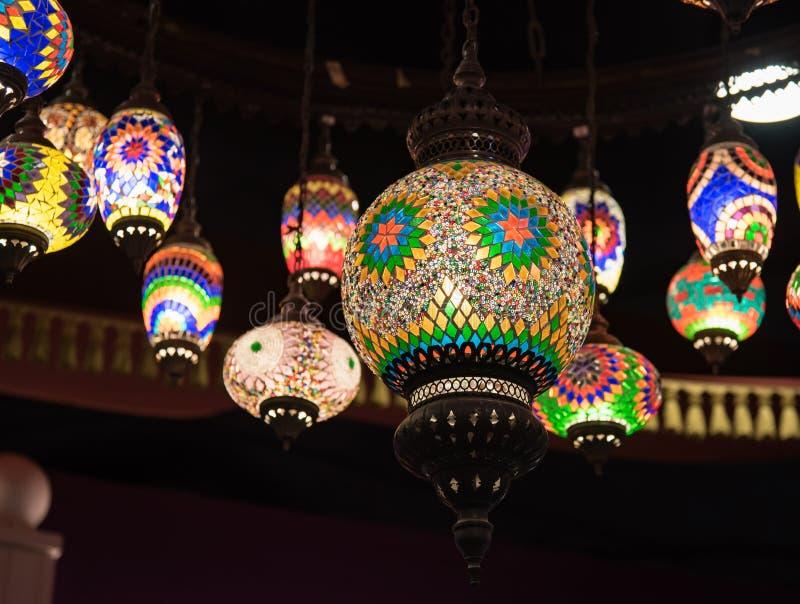 Lanterna árabe retro fotos de stock royalty free