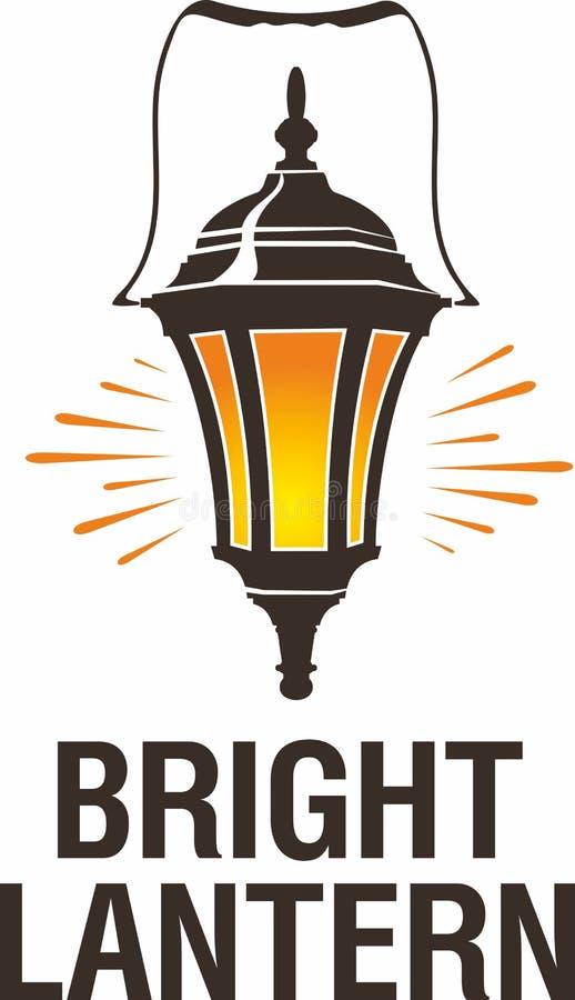 Lanterna acolhedor da vela do metall de Brigtn Ilustra??o de Vetor ilustração royalty free