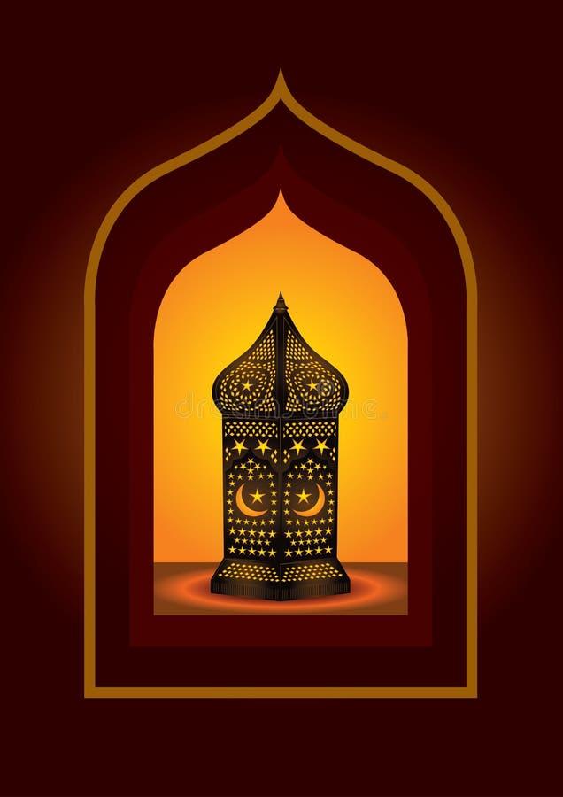Lanterna araba complicata illustrazione vettoriale