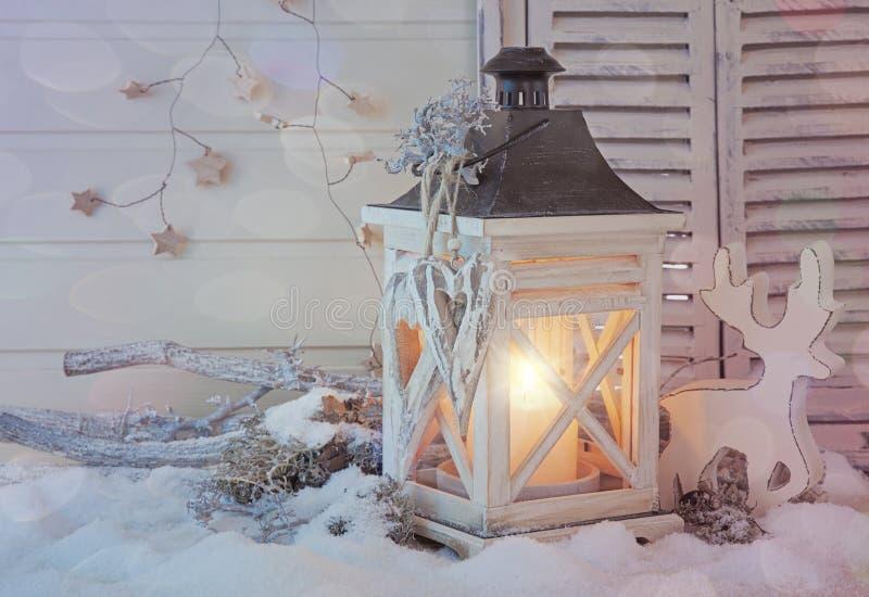 Lanterna ardente fotografia de stock