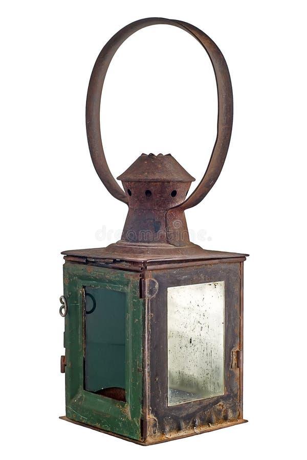 Lanterna branca velha imagens de stock