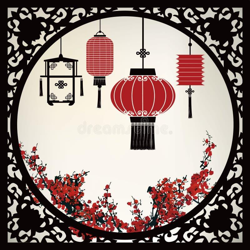Lanterna chinesa ilustração stock