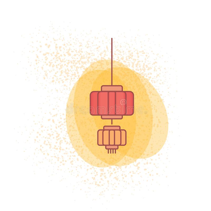 lanterna chinesa colorida para o papel de parede 2019 chinês do ano novo ilustração royalty free
