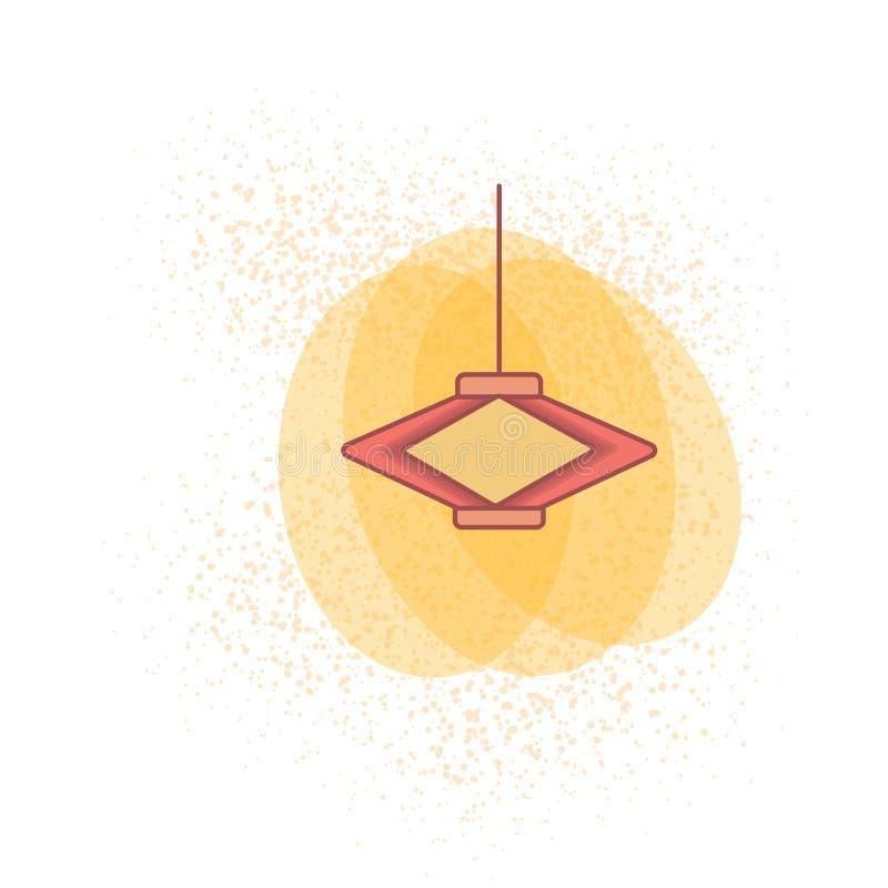lanterna chinesa colorida para o papel de parede 2019 chinês do ano novo ilustração do vetor