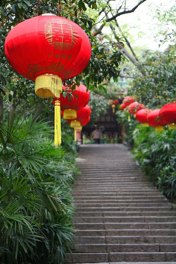 Lanterna chinesa do casamento fotos de stock