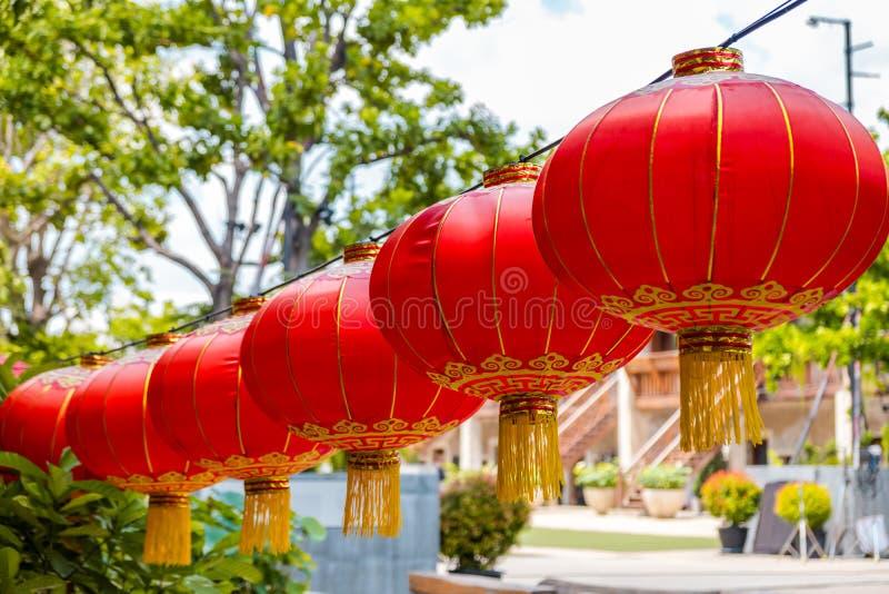 Lanterna chinesa vermelha para a celebração chinesa do ano novo imagens de stock