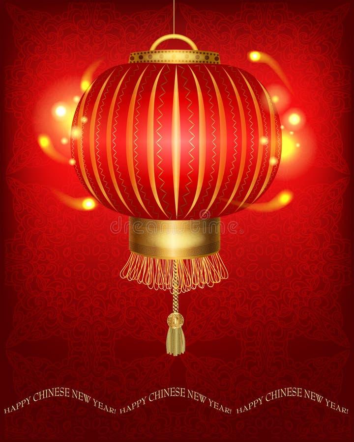 Lanterna chinesa vermelha tradicional ilustração royalty free