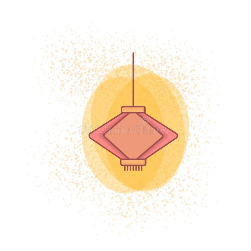 lanterna cinese colorata per la carta da parati cinese 2019 del nuovo anno illustrazione di stock